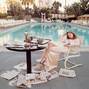 Fay Dunaway morning after the Oscar Award