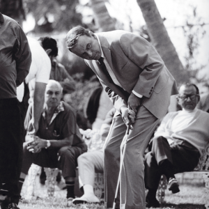 Frank Sinatra playing golf