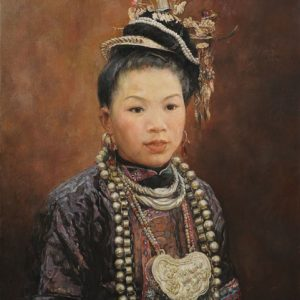The Necklace Girl from the Dong Tribe