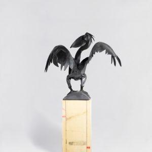 Pelican-Standing---Wood-Steel---site