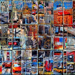 Artistic NYC_mixed media on canvas_50x100cm