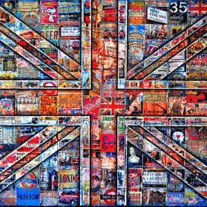 London British flag_mixed media on canvas_70x100cm