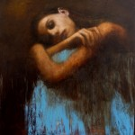 Study for Shelter - Oil on Board - 99x88cm