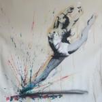 leap of faith 120cm x 130cmmixwed media on canvas
