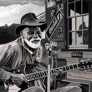 Old bluesman 65 x 54
