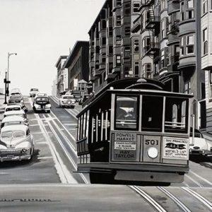 San Francisco cable car 60 x 73