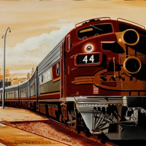 Sepia train 73 x 54