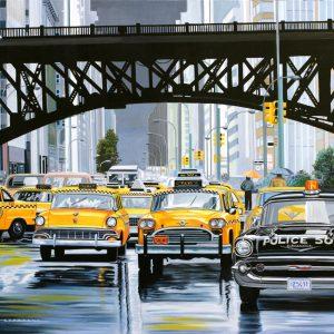 avenue sous la pluie116 x 89