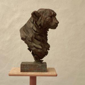Cheetah - bronze - lost wax casting 5:8 - 46x26x26cm