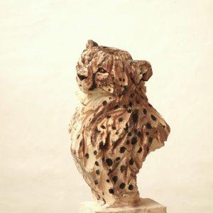 Cheetah - wood - 158x22x29cm 2
