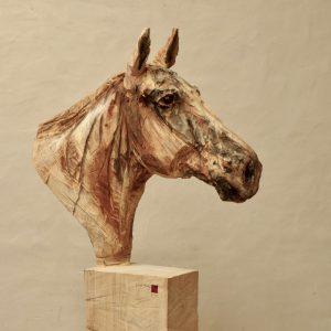 Horse - wood - 197x101x26cm 3