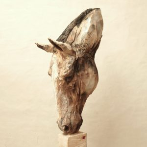 Sky horse - wood - 212x32x68cm 2