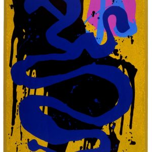 Blue Snake 1993 33 x 23 ins Silkscreen with woodblock