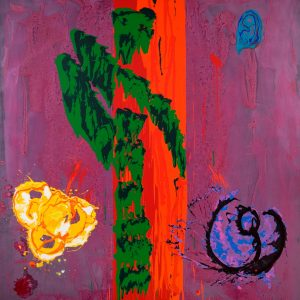 Story from Nature 12.9.96 Acrylic on canvas 100 x 93 ins CR London