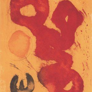 Sun Animal 1989 35 x 27 ins Italian etching