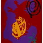 Wandering Moon 1993 33 x 23 ins Screenprint with woodblock