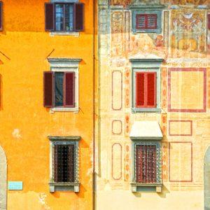 Pisa - Piazza Martiri Frontage - 48 x 32cm