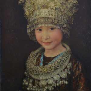 70x50cm Girl of the Miao Tribe
