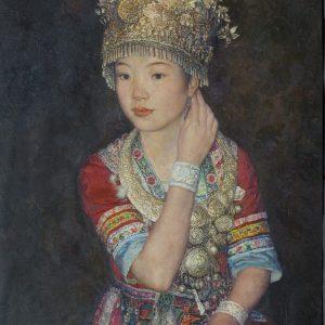 Elegant Maiden, 92x65.5cm