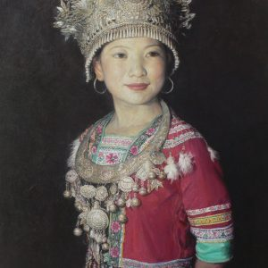 Young maiden of the Yao Tribe 90x65cm