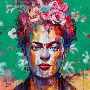 2018 04, Frida, 180x180 cm, Acrylic on Canvas (1)