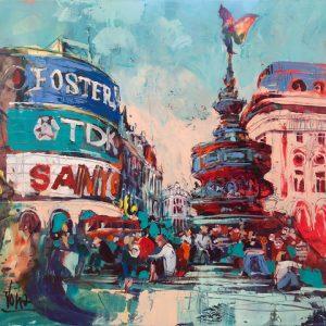 2018 04 Piccadilly Circus, 100x120cm, Acryl auf Leinen (1)