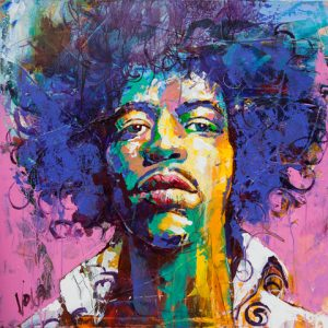 2018 11 Jimi, 80x80cm, Acrylic on Canvas (1)