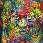Artcatto - Art Gallery Algarve - Pedro Guimarães -Fisherman-eyes-160-x-180-Acrylic-on-canvas