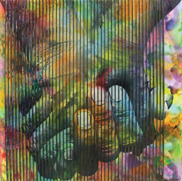 Artcatto - Art Gallery Algarve - Pedro Guimarães - In-our-hands-190-x-190-Acrylic-on-mdf-over-canvas