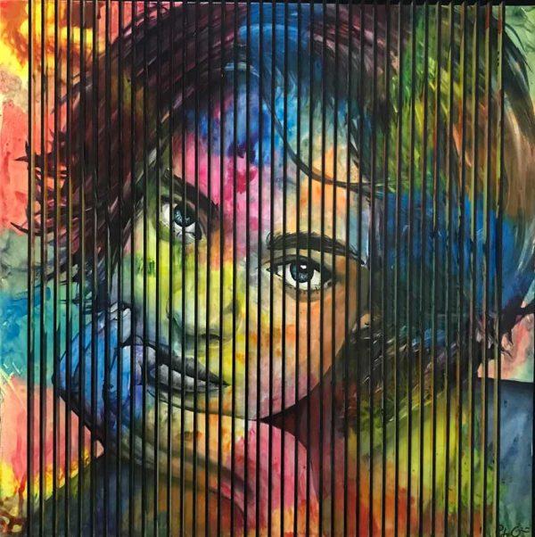 Artcatto - Art Gallery Algarve - Pedro Guimarães - Together-150-x-150cm-Acrylic-on-mdf-over-canvas