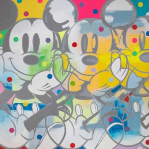 ArtCatto Gallery in Loulé Algarve Mickey-Meditation-200cmX210cmX3