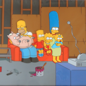 Couch Gag with Pig