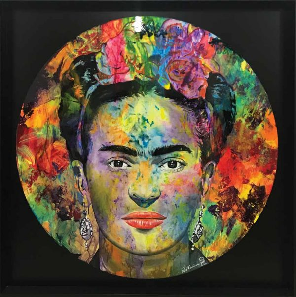 Artcatto - Art Gallery Algarve - Pedro Guimarães -Frida-Black-190-cm-diameter-Acrylic-on-aluminium