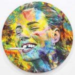 Artcatto - Art Gallery Algarve - Pedro Guimarães - I-just-need-to-be-happy-190-diameter-Acrylic-on-aluminium