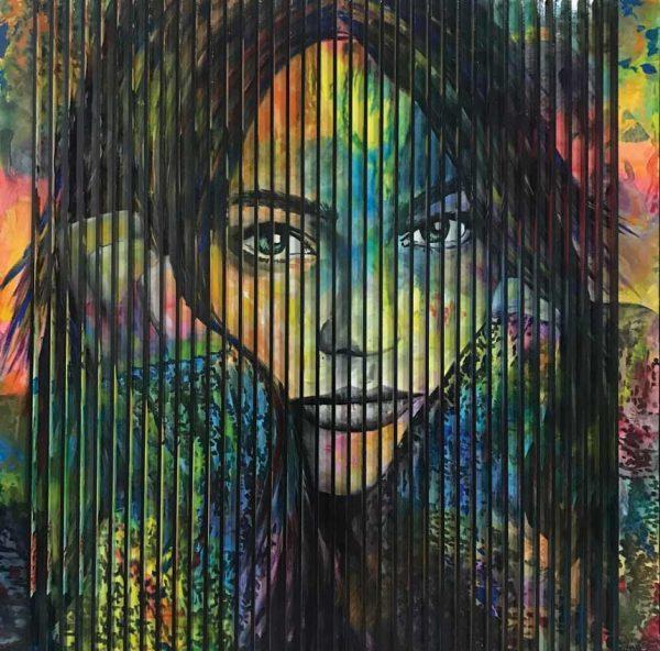 Artcatto - Art Gallery Algarve - Pedro Guimarães - I-will-wait-150-x-150cm-Acrylic-on-mdf-and-canvas