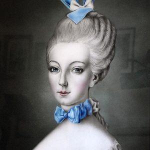 Marie Ann-Bunny Metalic Print framed SML